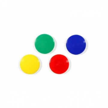 10 aimants 24 mm coloris panachés