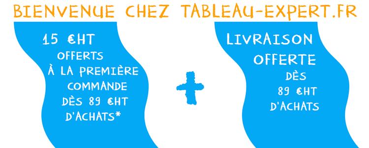 Offre Bienvenue chez Tableau-Expert.fr
